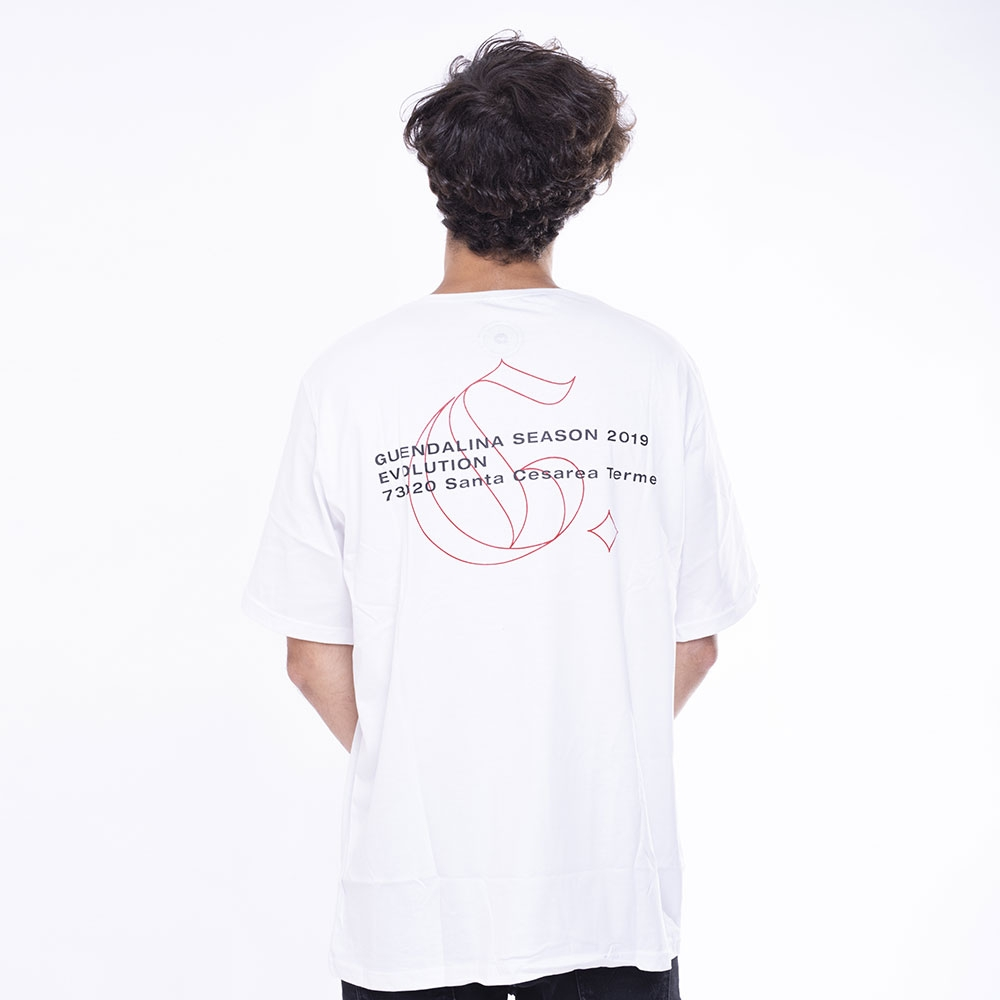 White TEE Evolution Gothic Outline